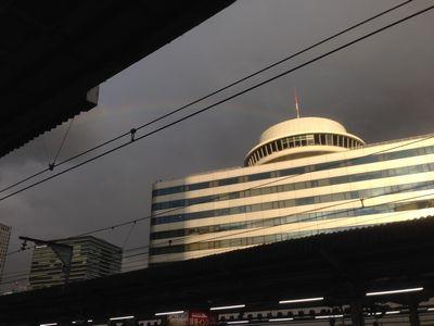 有楽町駅から見た虹