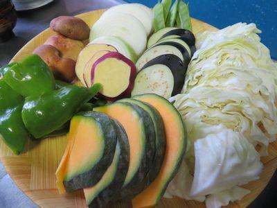 バーベキューの野菜